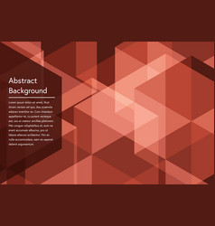 Red geometry abstract background vector