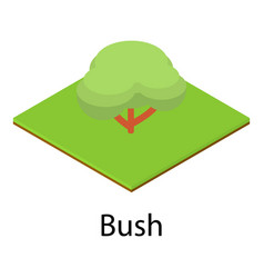 resting place icon isometric style vector image