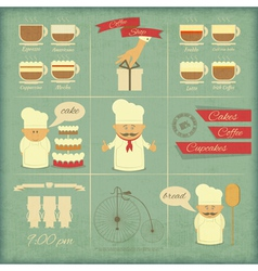 Retro Cover Menu for Bakery vector