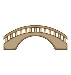 Round bridge icon cartoon style vector