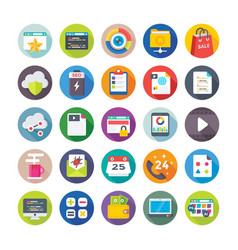 seo and digital marketing icons 5 vector image