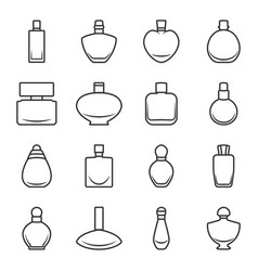set of different perfume bottles in format vector image