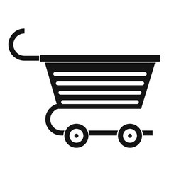 Shopping trolley icon simple style vector