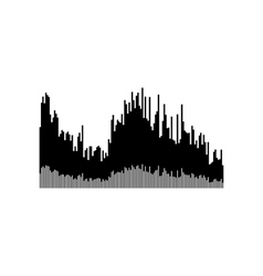 Sound or audio wave vector image