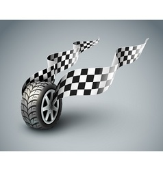 Sport racing wheel vector