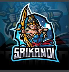 Srikandi esport mascot logo design vector