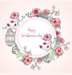 St valentine s day card vector