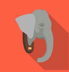 stuffed elephant headafrican safari single icon vector image