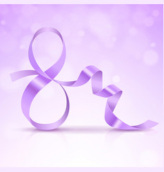symbol march 8 of purple satin ribbon vector image