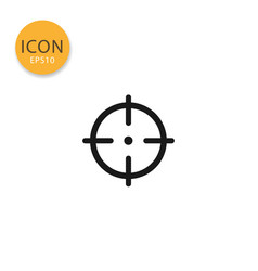 target icon isolated flat style vector image