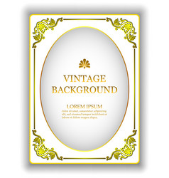 template vintage white background vector image