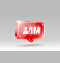 Thank you followers peoples 1 million online vector