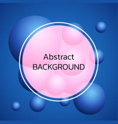 Trendy 3d balls background design element with vector