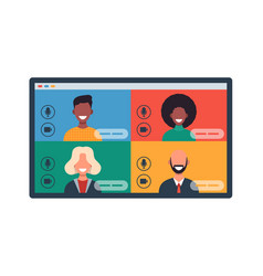 web windows with different people chatting vector image