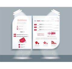 Webpage design vector image