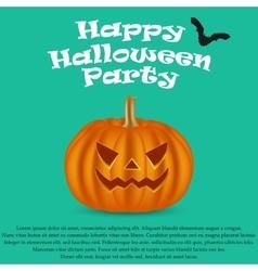 Wicked pumpkin for Halloween Jack Lantern vector