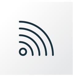 wifi icon line symbol premium quality isolated vector image
