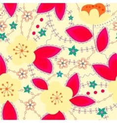 Retro pattern with apple bright vector image