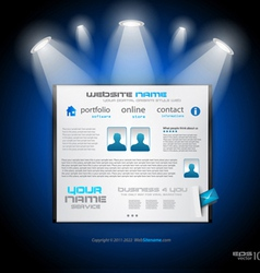 showroom website vector image