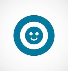 smile bold blue border circle icon vector image vector image