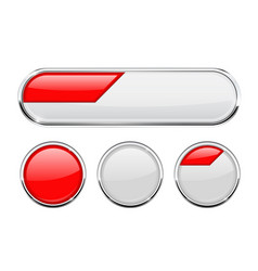 white and red buttons vector image vector image