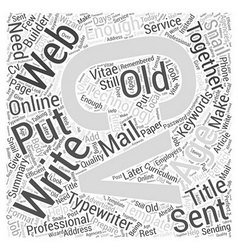 Why You Need A Web CV Word Cloud Concept vector image vector image