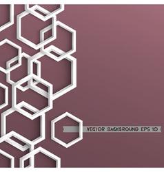 3d stylish geometric background vector image vector image