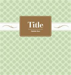 book cover vector image vector image