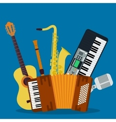 Concept of concert musical instruments vector image