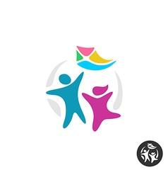 Happy people logo vector image
