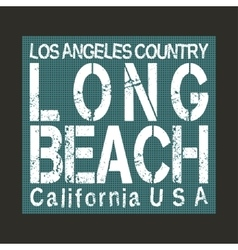 Long Beach California vector image vector image