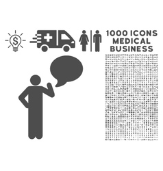 Man Idea Balloon Icon with 1000 Medical Business vector image vector image