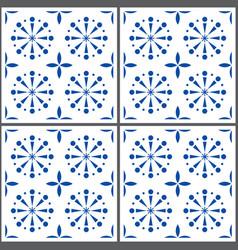 Portuguese tile pattern lisbon seamless in vector