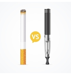 Smoking vs vaping vector