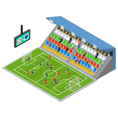 soccer stadium competition isometric view vector image vector image