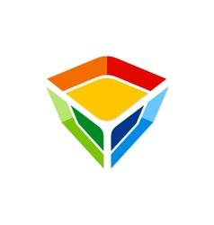 colorful gem technology logo vector image