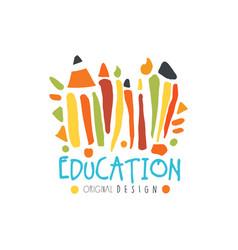 education label original design back to school vector image