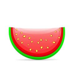 flat icon slice of watermelon vector image