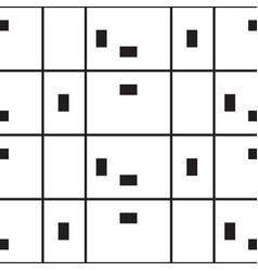geometric black and white line minimalistic vector image