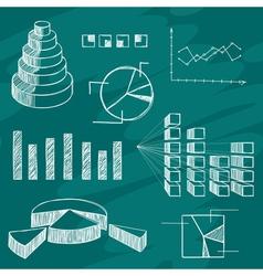 Infographics elements sketch vector image vector image