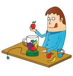 Man Making juice vector image