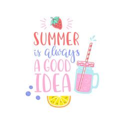 Summer design sticker with tropical beach elements vector