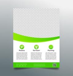 Business flyer template - simple sleek design vector image vector image