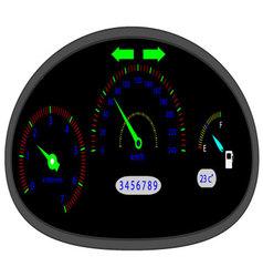 Car dashboard indicators vector image