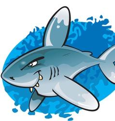 Cartoon Oceanic white tip shark vector image