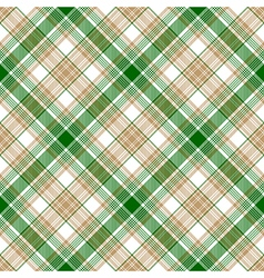 Green white beige fabric texture seamless pattern vector image vector image
