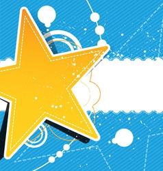 grunge star background design vector image vector image