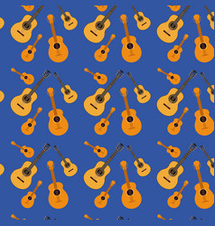 guitars pattern in dark blue background vector image vector image