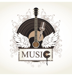 music flourishes vector image