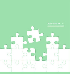 Abstract color background made jigsaw vector